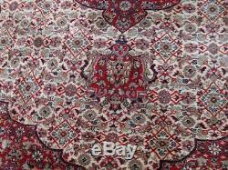 Très Grande Laine De Tapis Tapis Antique Vintage 199cm X 223 CM CM Pers Ian