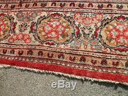 Très Grande Laine De Tapis Tapis Antique Vintage 414 X 310 CM Pers Ian Saro = Uk