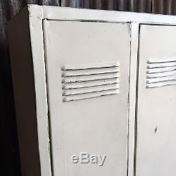 Triple Industrial Vintage Lockers, Upcycled Reworked Funky Retro 3 Door Workshop