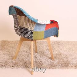 Tulip Patchwork Tissu Tub Fauteuil Dining Lounge Chaise Siège Vintage Retro Home