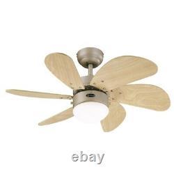 Turbo Swirl 30 Ventilateur De Plafond En Titane Westinghouse Avec Lumière