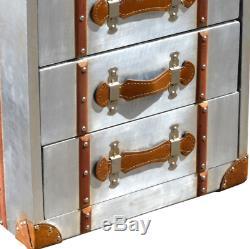 Unité De Stockage Commode 5 Tiroirs Armoire Haute Industriel Style Vintage Tallboy Métal