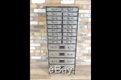 Urban Vintage Industrial Metal Avec Meuble De Rangement En Bois 22 Draws 5235