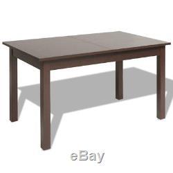 Vidaxl Extensible Table À Manger Cuisine Maison Lumière / Brun Foncé 120 / 160x70x76.5 CM
