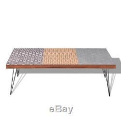 Vidaxl Table Basse 120x60x38cm Côté Mobilier De Maison Domicile Brun / Gris