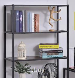 Vieille Bibliothèque Industrielle Grande Étagère Rustique Tall Side Cabinet Display Storage