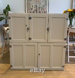 Vintage 1950 Armoire Commis Dresser Larder Top Postal Cabinet Cuisine F & B
