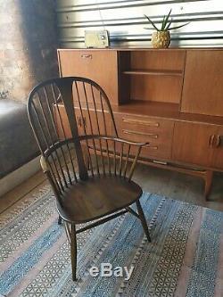 Vintage 60 Ercol Chairmakers Windsor Président. Rétro Danois
