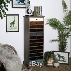 Vintage Apothicaire Armoire Haute Poitrine Tiroirs Style Industriel Tallboy Furniture
