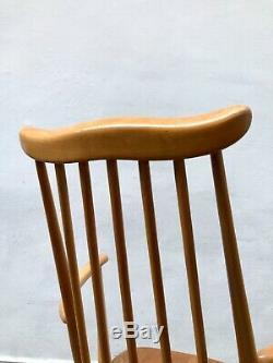Vintage Blonde Ercol Goldsmith Rocking Chair. Danois Retro. Milieu Du Siècle Livraison