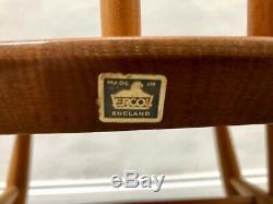 Vintage Blonde Ercol Goldsmith Rocking Chair. Rétro Danois. Milieu Du Siècle Livraison