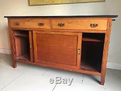 Vintage Boutique Comptoir Tiroirs Mercerie Enfilade Kitchen Island Unité Dresser