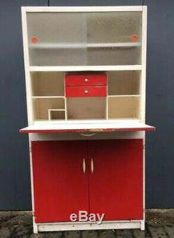 Vintage Coin Cuisine Cuisine Larder Armoire De Stockage Cabinet 1960