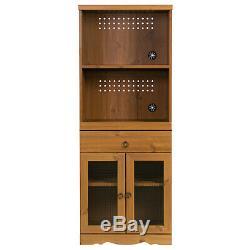 Vintage Cuisine Larder Cabinet Grande Armoire De Stockage Garde-manger Rustique Unité Brown