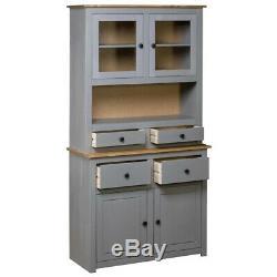 Vintage Cuisine Larder Cabinet Gris Grand Pin Meuble De Rangement Garde-manger Rustique