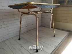Vintage Formica Cuisine Table Et 4 Chaises En Marbre Effet Dining Table 1950 Rétro