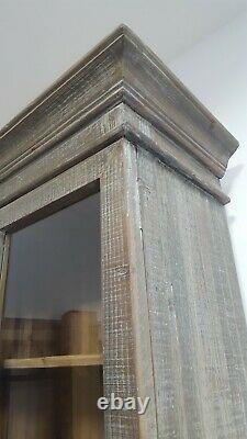 Vintage Français Style Tall Glass Display Salle À Manger Armoire De Cuisine Rrp 1745 Nouveau