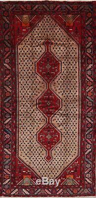 Vintage Géométrique Tribal Koliaie Hamedan Tapis Main Laine Tapis Noué 5'x9