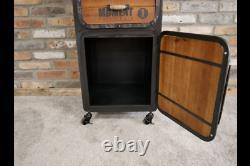 Vintage Industriel Buffet Larder Unité Style Rétro Storage Chest 148cm