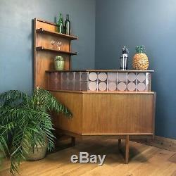 Vintage Rare Maison Plan G Teck Cocktail Présentoir Man Cave MID Century Retro