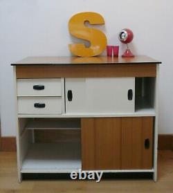 Vintage Retro Danish Kitchen Cupboard Unit Scandinave Milieu Du Siècle