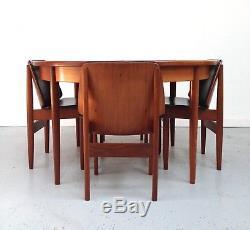 Vintage Retro G Plan Fresque Cuisine Table Et Chaises De Salle À Manger 60s 70s Style Danois