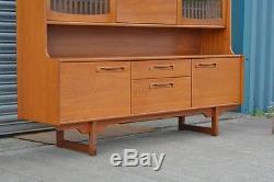 Vintage Retro Teak Veneer Dresser Sideboard Display Boissons Cabinet Bibliothèque