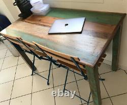 Vintage Rustique Table À Manger De Style Rétro Cuisine Chambre Main Meubles En Bois