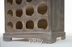 Weinregal Lucan T323, Flaschenregal Regal, 94x48x31cm, Shabby-look, Vintage