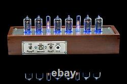 Z573m Nixie Tubes Clock In Wooden Case Divergence Meter Mini Rgb, Usb, Musical